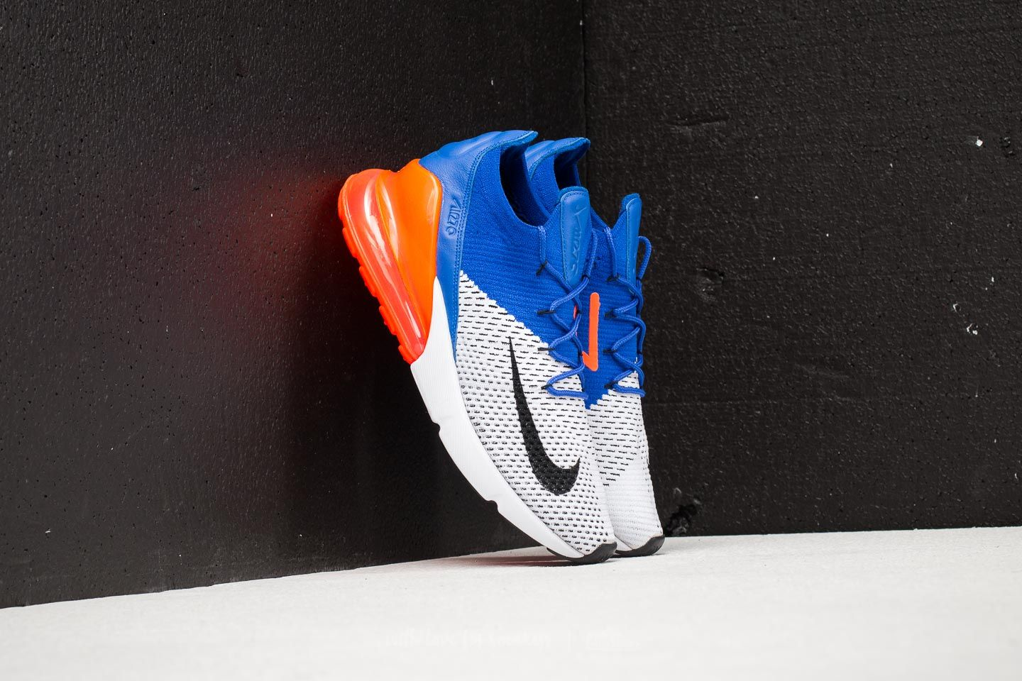 8eaa34f425871 Nike Air Max 270 Flyknit White  Black-Racer Blue