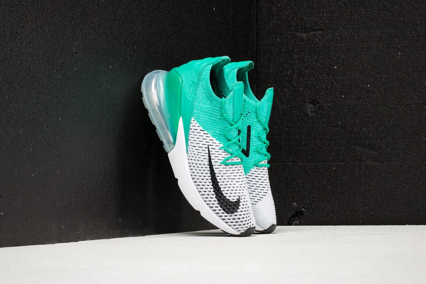 6342edf426 Nike W Air Max 270 Flyknit Clear Emerald/ Black at a great price 119 €