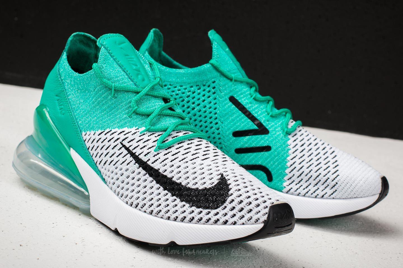 Nike W Air Max 270 Flyknit Clear Emerald Black   Footshop