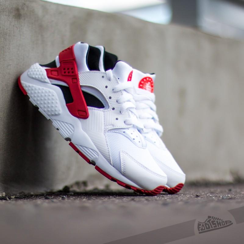 zapatos clasicos más popular muy barato Nike Air Huarache Run (GS) White/ Gym Red-Bright Crimson ...