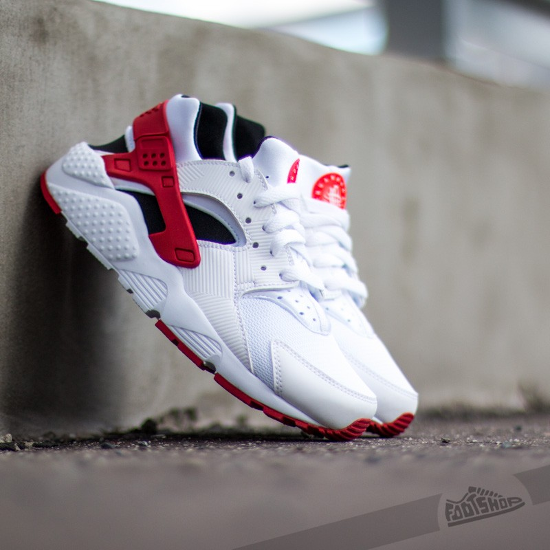 65132f9fbda7 Nike Air Huarache Run (GS) White  Gym Red-Bright Crimson