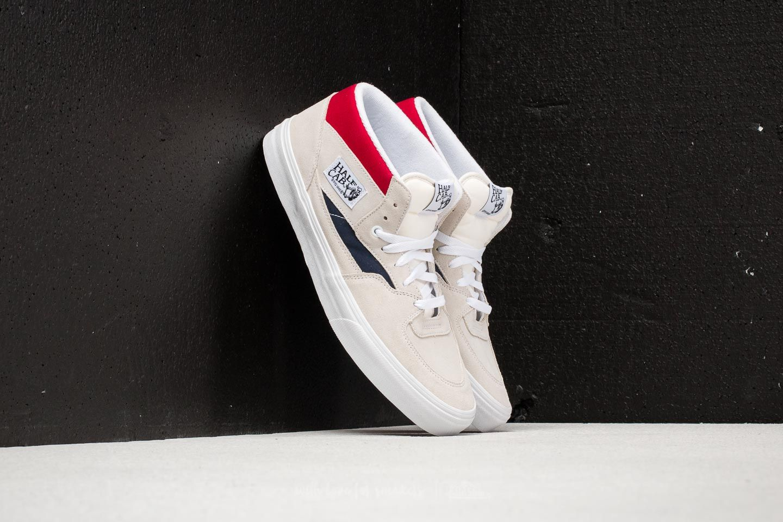 827b93b45a675a Vans Half Cab (Retro Block) White  Red
