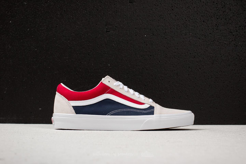 Men's shoes Vans Old Skool (Retro Block) White/ Red | Footshop