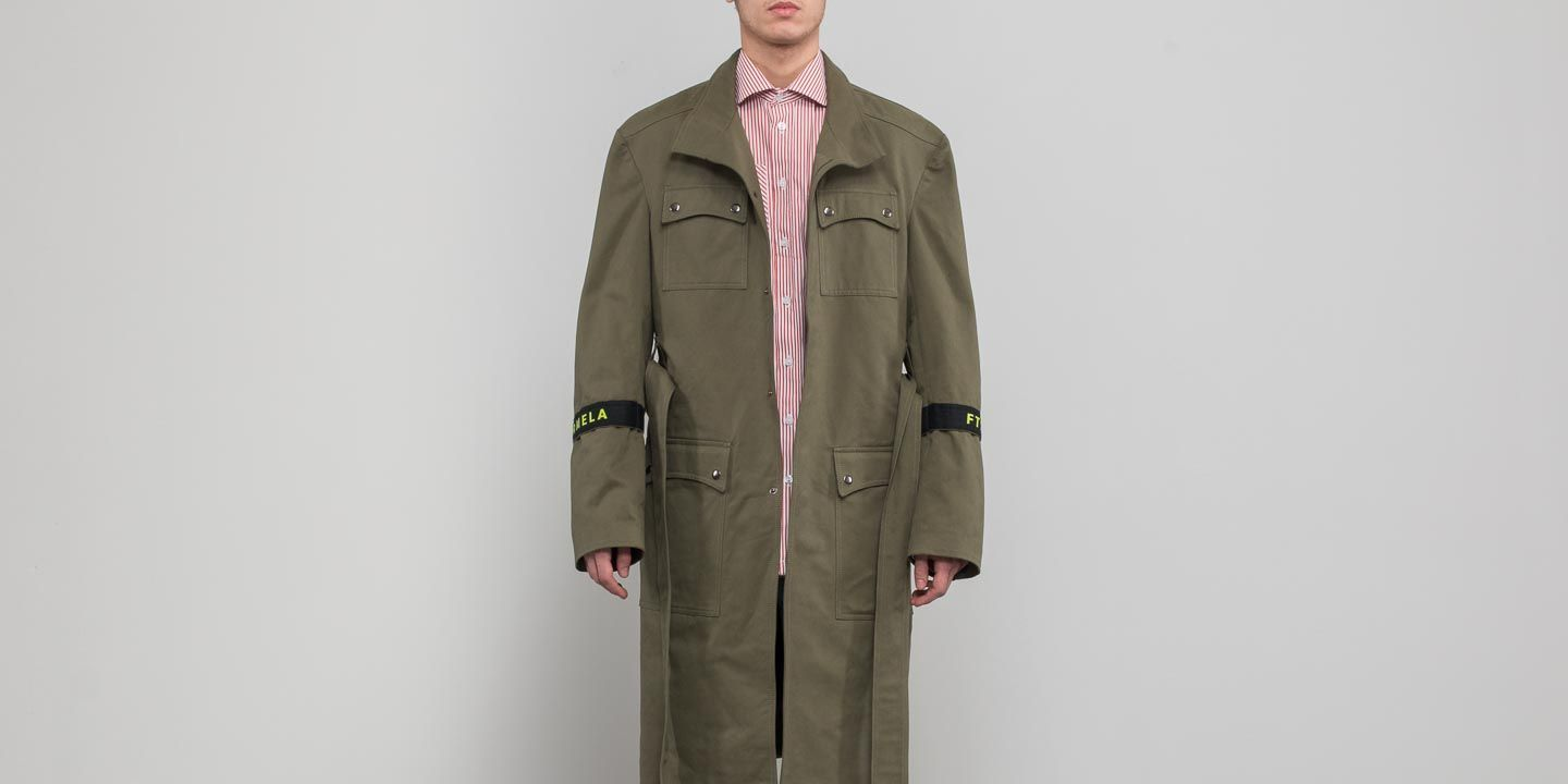 FTSHP  LAFORMELA No Season Twill Long Coat Green