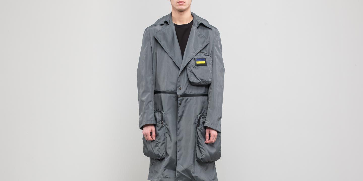 FTSHP  LAFORMELA No Season Zip Pockets Long Coat Grey