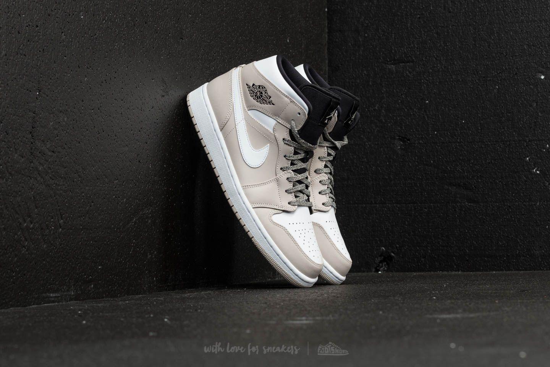 Air Jordan 1 Mid Desert Sand/ White