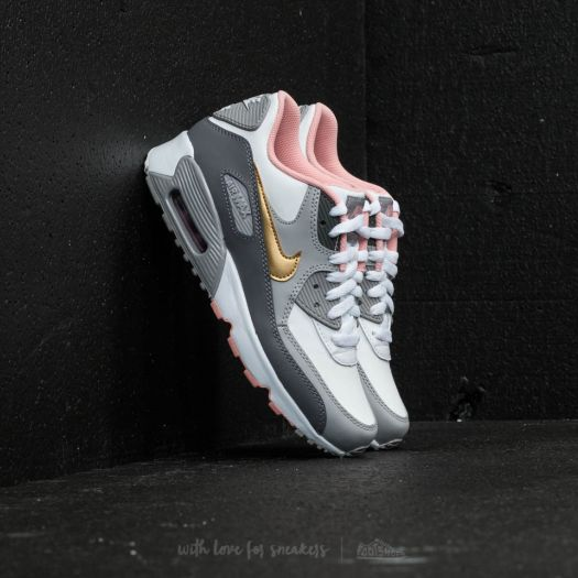 Nike Air Max 90 Leather (GS) | 833412 100 | Vit | Sneakers