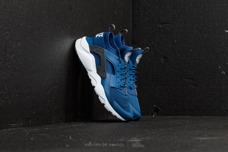 a7b4c57ca47c Nike Air Huarache Run Ultra (GS) Gym Blue  Wolf Grey-White