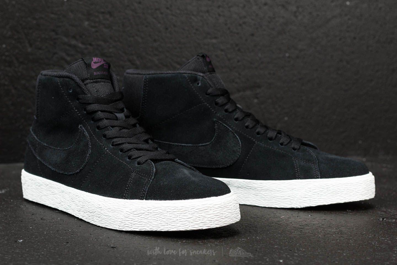 on sale 1ed8e 8b679 Nike SB Zoom Blazer Mid Decon Black/ Black-Pro Purple   Footshop