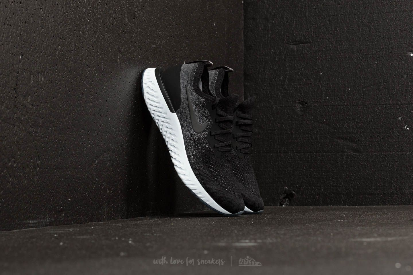 b0d69ef2fb7 Wmns Nike Epic React Flyknit Black  Black-Dark Grey at a great price 147