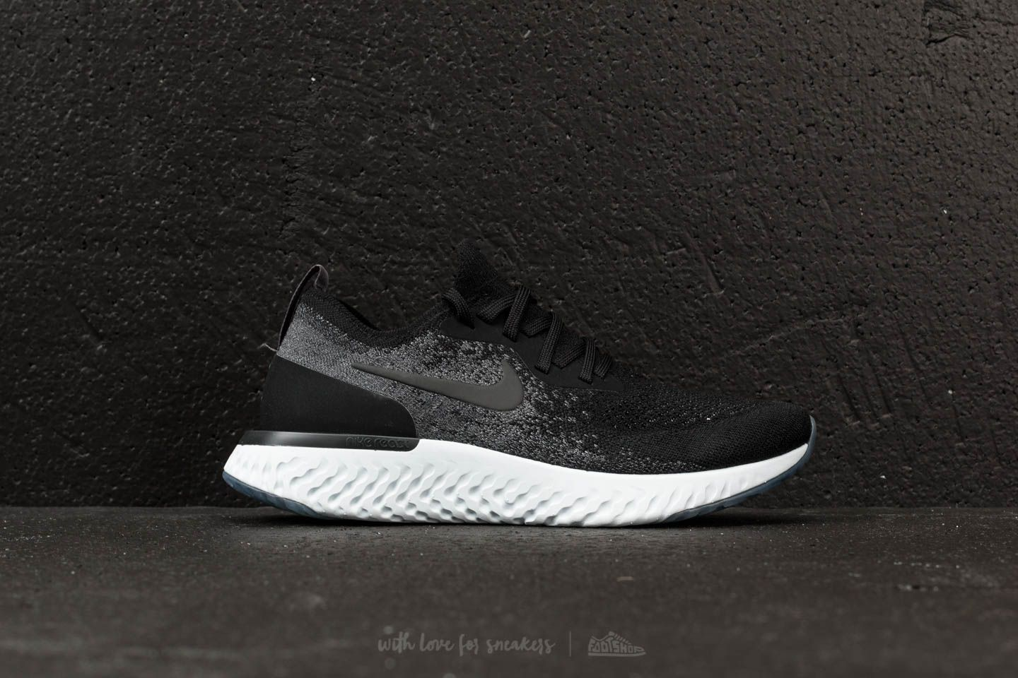 4fd2587f749 Wmns Nike Epic React Flyknit Black  Black-Dark Grey at a great price 147