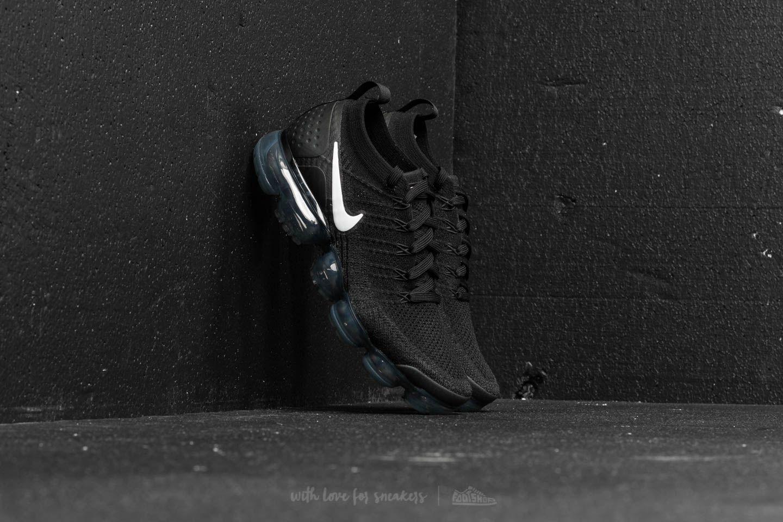 cd1d795bb91e Nike Air Vapormax Flyknit 2 Black  White-Dark Grey