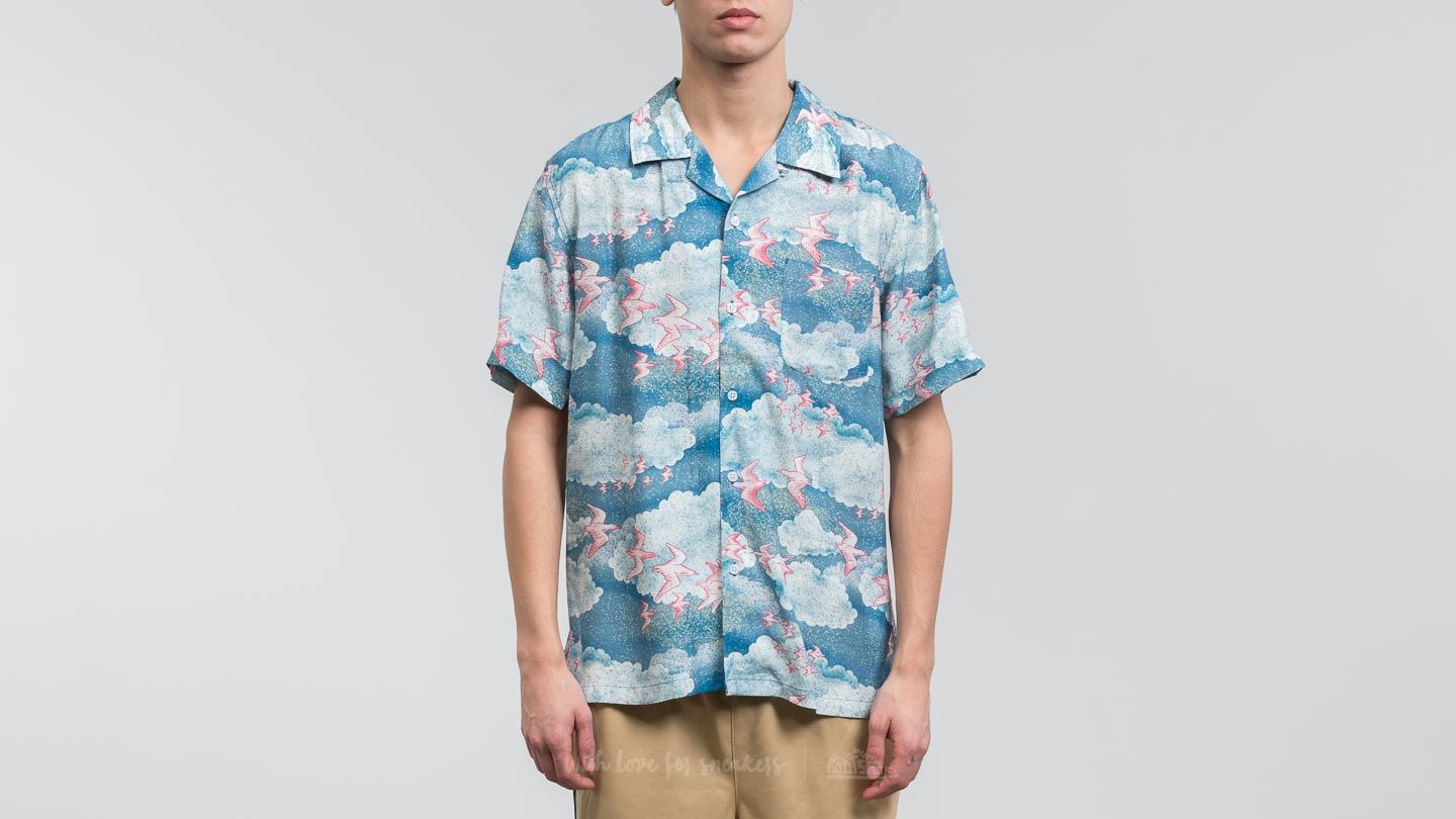 Stüssy Clound And Birds Shirt Blue