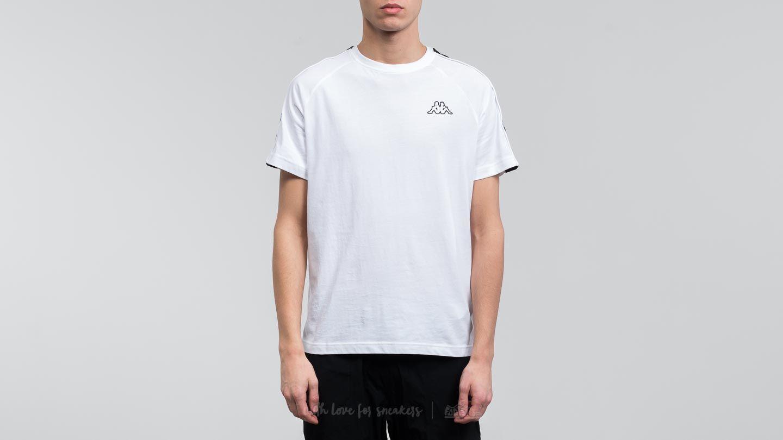 Camisetas Kappa 222 Banda Coen Slim Tee White-Black