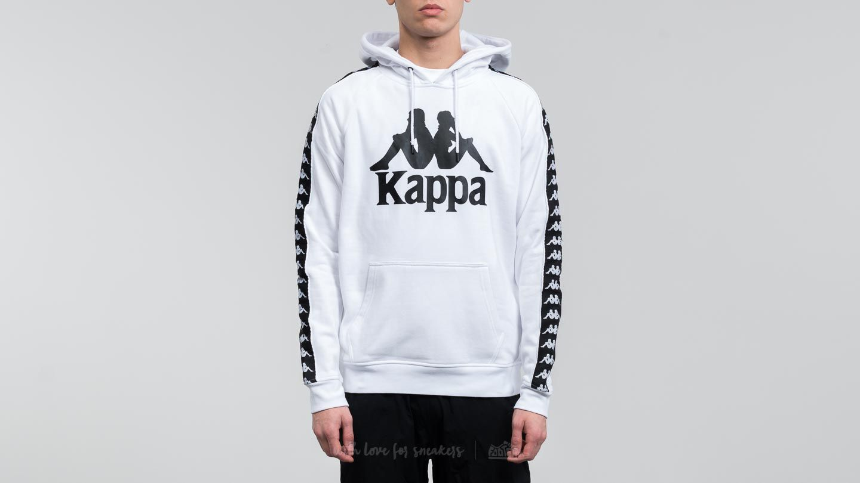 2e141bf3a3c Kappa Authentic Hurtado Hoodie White-Black | Footshop