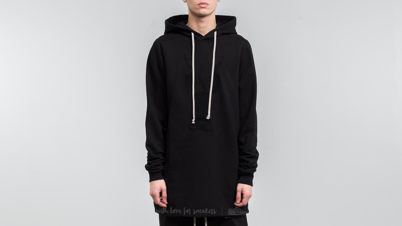 rick owens drkshdw pullover hoodie black footshop