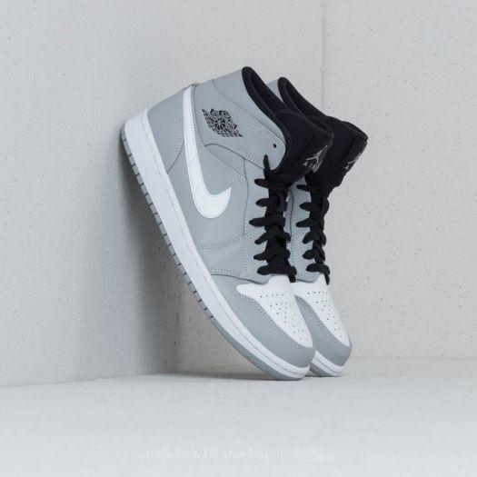 closer at usa cheap sale 100% genuine Air Jordan 1 Mid Wolf Grey/ White-Black | Footshop