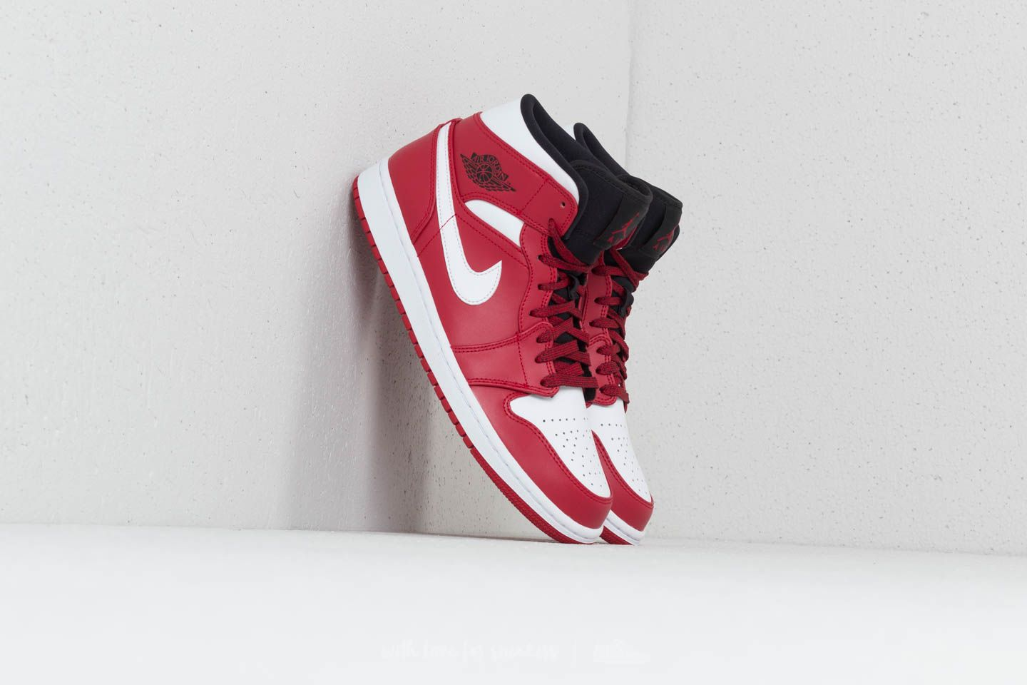 Air Jordan 1 Mid Gym Red  White-Black  03fad8c6f69