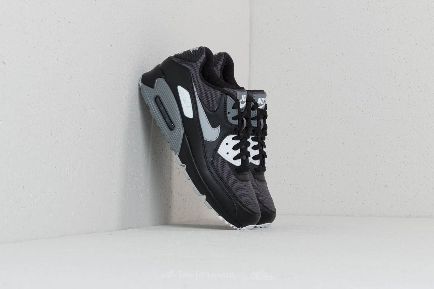 37a8aaaedb53 Nike Air Max 90 Essential Black  Wolf Grey-Dark Grey at a great price
