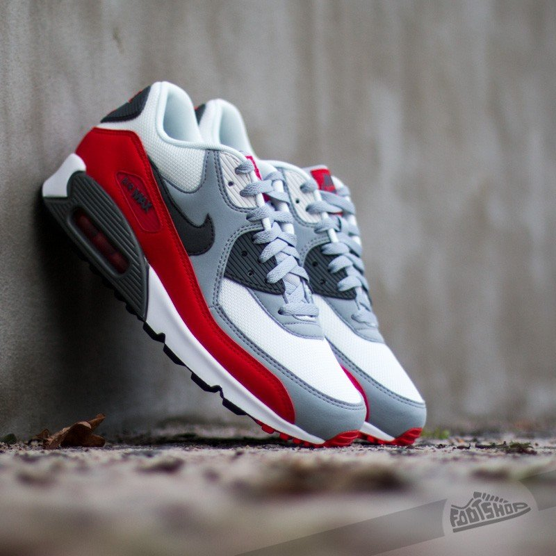 finest selection a47b0 127b2 Nike Air Max 90 Essential Wolf Grey Dark Grey-Chilling Red