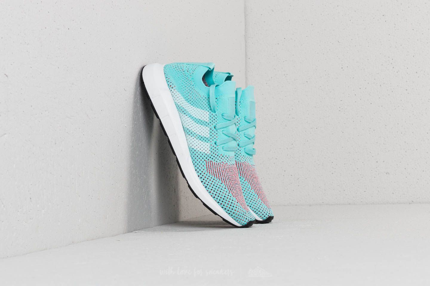 adidas Swift Run Primeknit W Clear Aqua  Ftw White  Core Black at a great b6b139981b