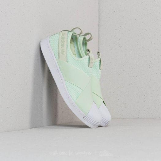 huge discount d42fb 27f88 adidas Superstar Slip-On Aero Green/ Aero Green/ Ftw White ...