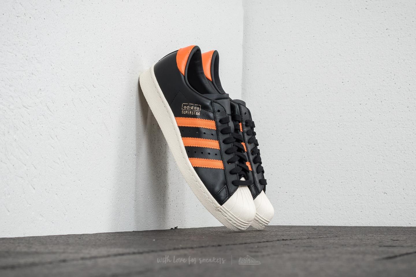 innovative design e2385 00135 adidas Superstar OG Core Black  Tra Orange  Off White at a great price 117