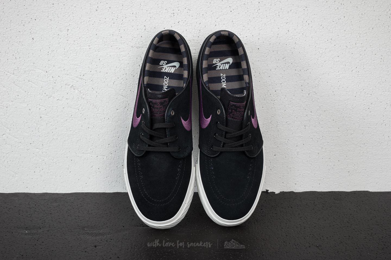 kupować tanio buty do biegania dostać nowe Nike SB Zoom Stefan Janoski Black/ Pro Purple-Ridgerock ...