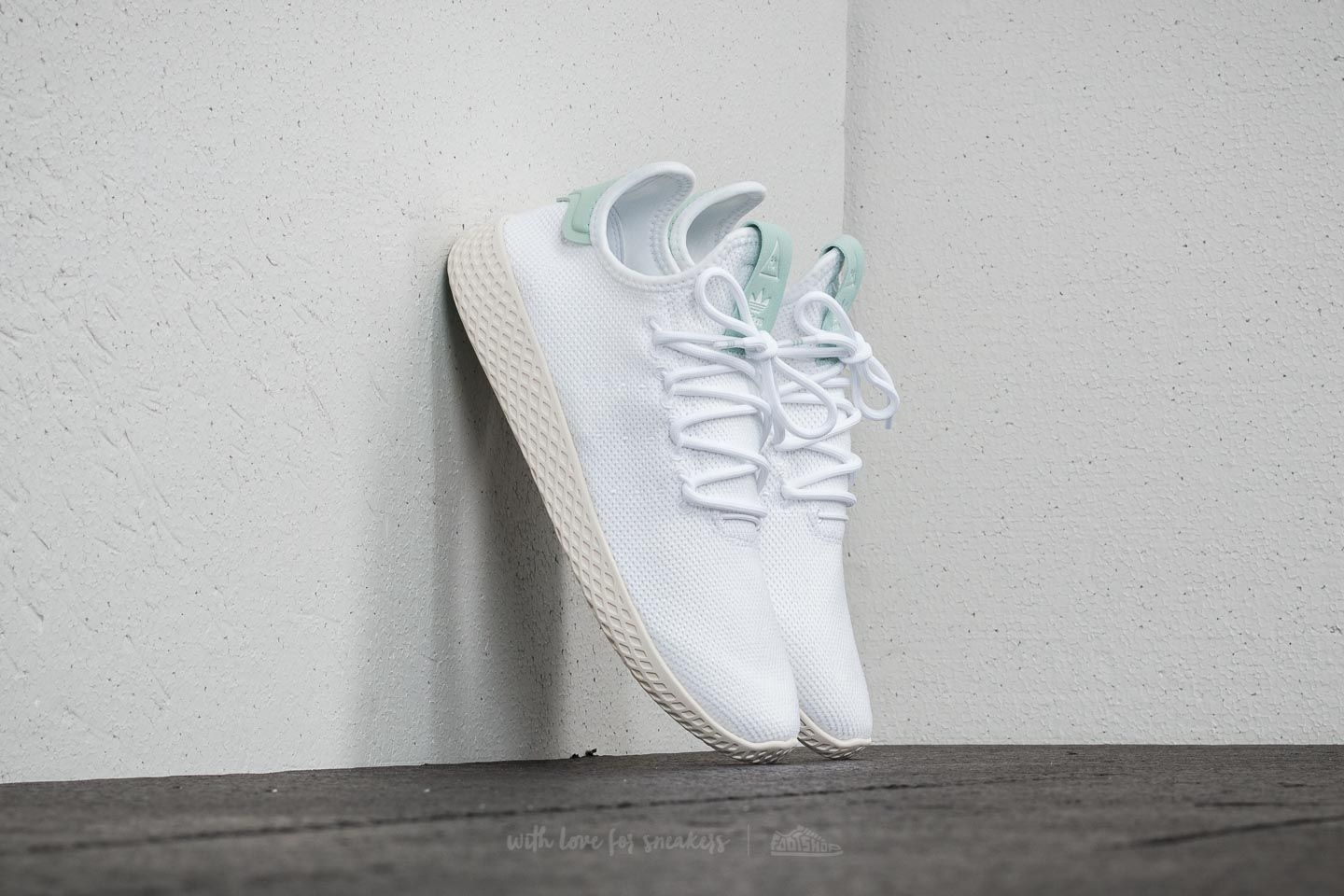 adidas Pharrell Williams Tennis HU J FtwWhite  Ftw White  AshGreen ... 6e4fc06b370