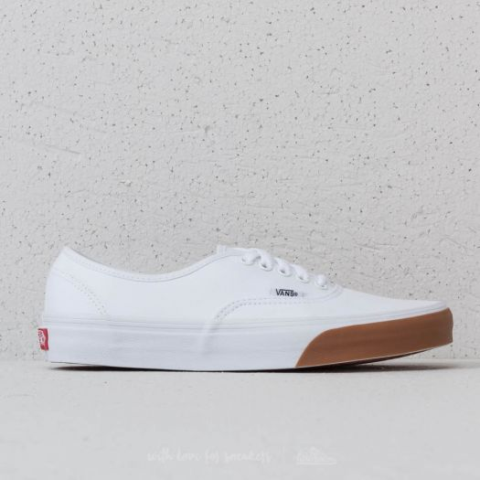 Vans Authentic (Gum Bumper) True White Gum | Footshop