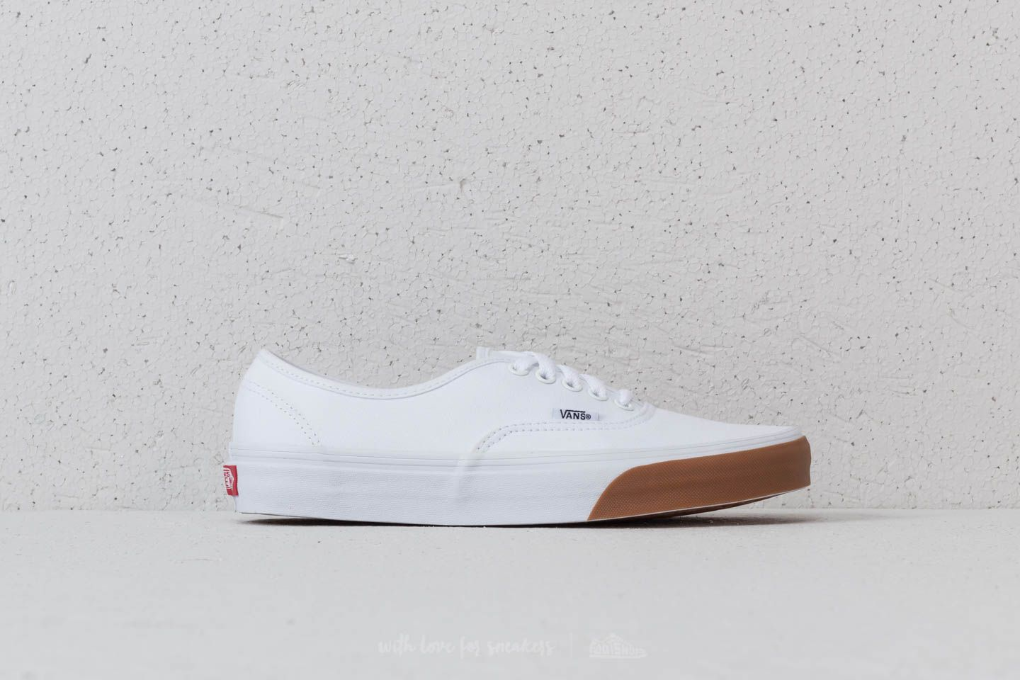 Vans Authentic (Gum Bumper) True White/ Gum | Footshop