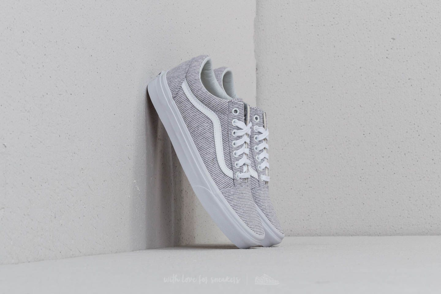 Vans Old Skool (Jersey) Gray  True White  45c93714e