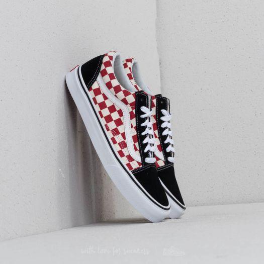 Vans Old Skool (Checkerboard) Black Red | Footshop