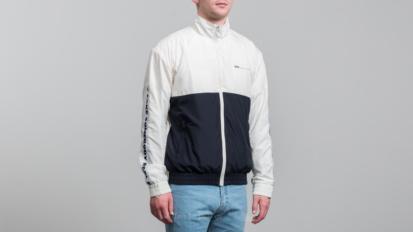 Vjetrovke WOOD WOOD Homer Jacket Off White/ Navy
