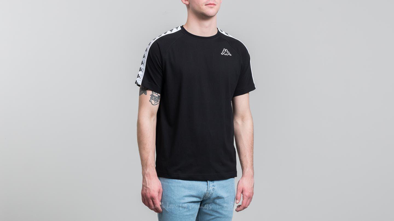 T-shirts Kappa 222 Banda Coen Slim Tee Black-White