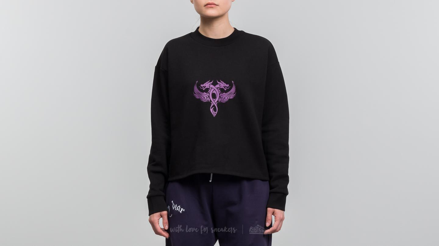 Puloveri i džemperi My Dear clothing Dragon Cropped Crewneck Black
