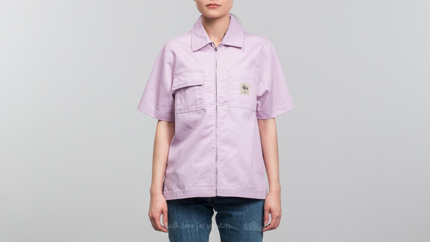 Stüssy Avery Work Shirt Pink at a great price £48 buy at Footshop f97d48536