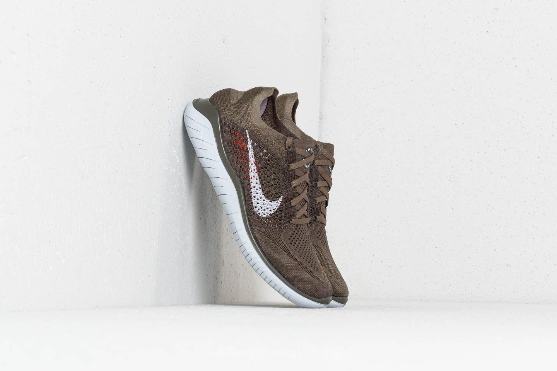 1c702ced203 Nike Free Run Flyknit 2018 Cargo Khaki  Pure Platinum