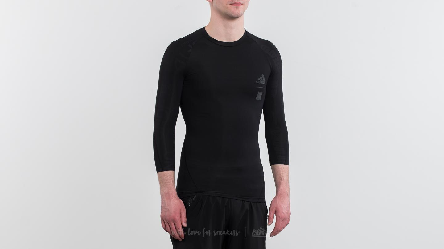 online store 8a588 05eff adidas x Undefeated Alpha Skin Tech 34 Tee Black