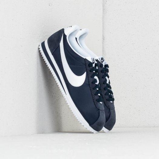 Nike Wmns Classic Cortez Nylon Obsidian White | Footshop