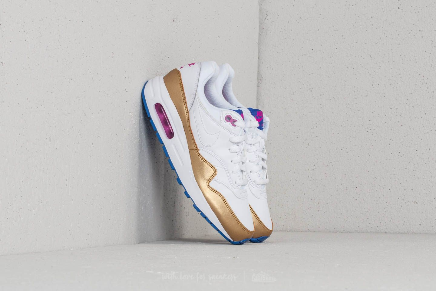 Nike Air Max 1 (GS) White  White-Metallic Gold at a great 3f840c5124