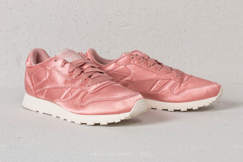 Reebok Classic Leather Satin Chalk Pink Classic White   Footshop
