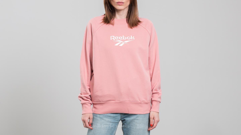 Reebok LF Cotton Cover Up Sweatshirt Chalk Pink