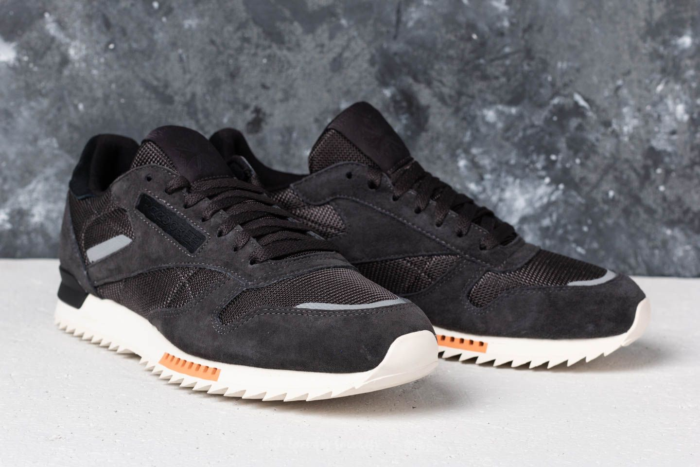 Reebok CL Leather Ripple SN Coal Powder Gry Classic White | Footshop
