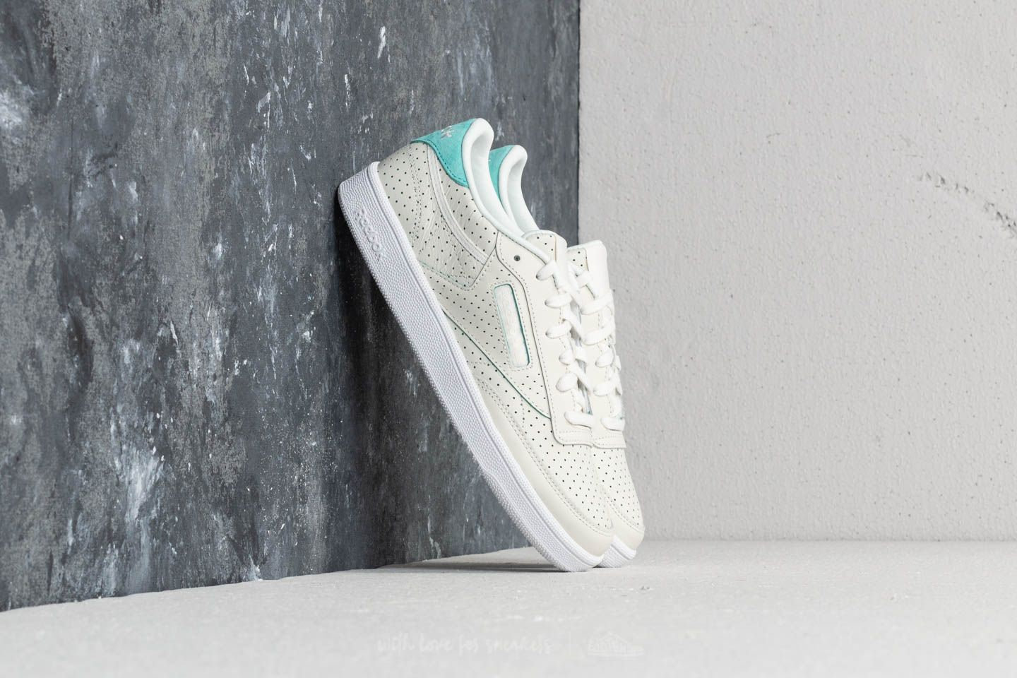 Reebok Club C 85 Popped Perf Chalk/ Turquoise/ White