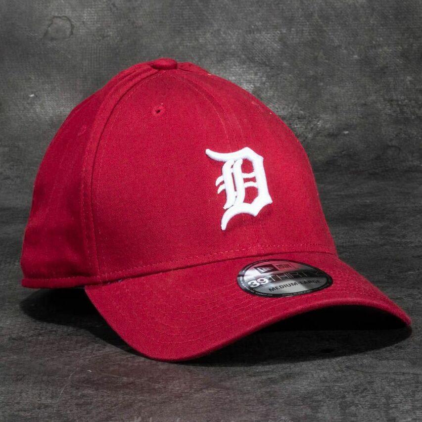 New Era 39Thirty Washed Detroit Tigers Cap Scarlet M-L