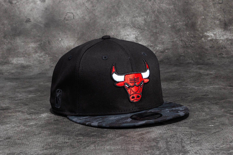 2fd2a1756c2 New Era 9Fifty Team Camo Chicago Bulls Cap Black  Dark Camo