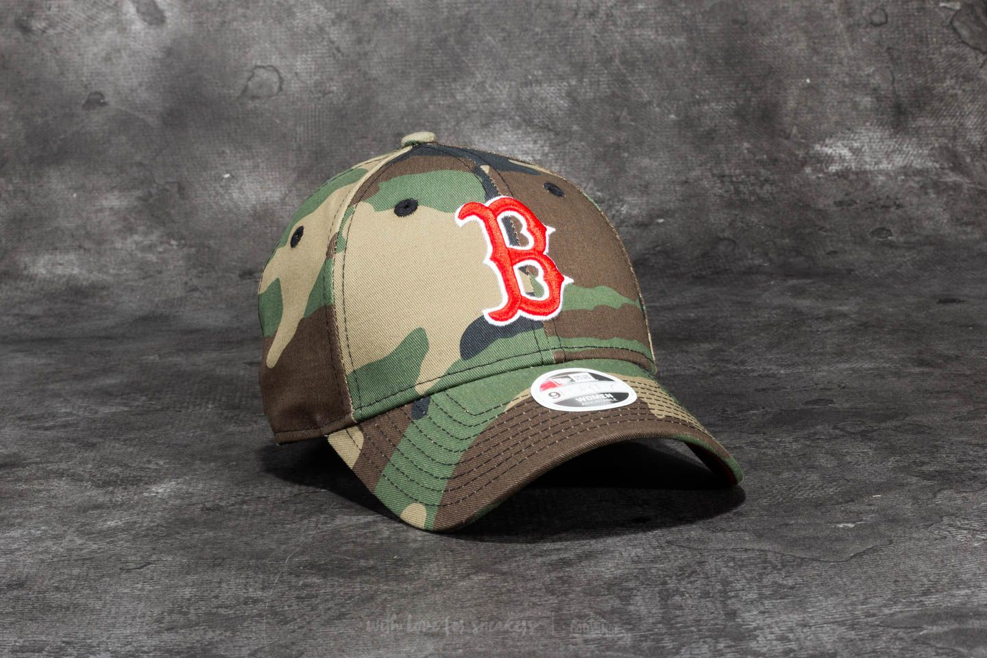 New Era 9 Forty Women Camo Team Boston Red Sox Cap Woodland Camo