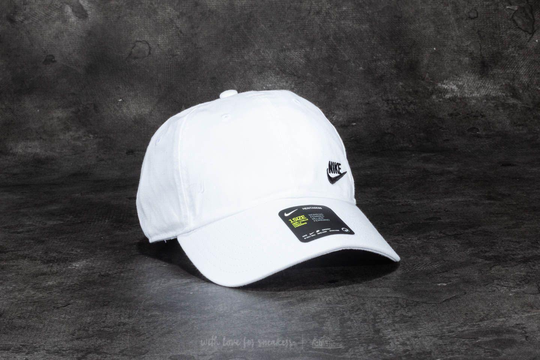 5908935fb93 Nike Futura Classic Heritage 86 Cap White  Black