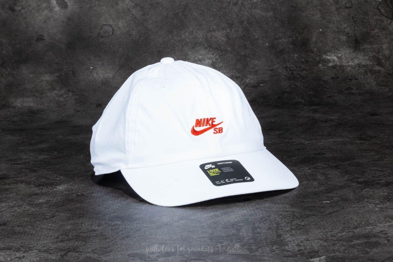 81aebaea407 Nike SB Heritage 86 Cap White  Vintage Coral